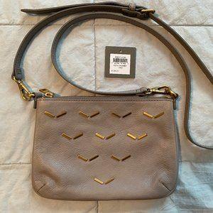 NEW Fossil Sofia Grey Leather Crossbody Bag